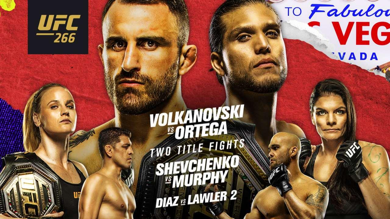 Alexander Volkanovski vs Brian Ortega
